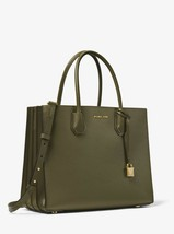 MICHAEL KORS Mercer Large Pebbled Leather Accordion Tote shoulder Bag sa... - $179.00