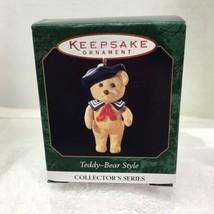1999 Teddy Bear Style #3 Mini Hallmark Christmas Tree Ornament MIB Price... - $12.38