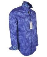 NEW Robert Graham $230 THE ROSE Purple Blue Floral Print Sport Shirt - $130.50