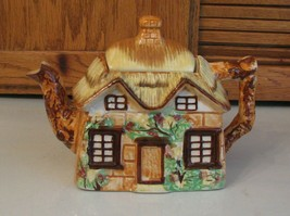 Vintage Occupied Japan Teapot Thatched Roof Cottage  - $23.75