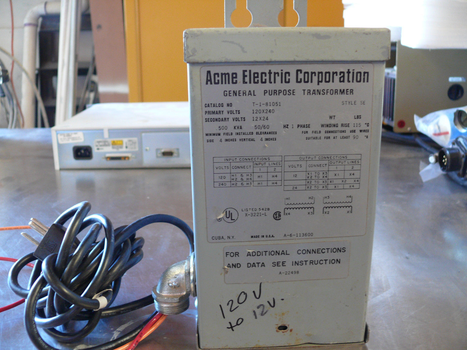 Single Phase Acme Transformer Wiring wiring an immersion heater 1949 ...