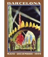 Barcelona Exposicion Internacional 1929 by Unknown Stretched Canvas Muse... - $256.41