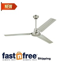 Industrial/Commercial Garage/Shop 56-Inch Ceiling Fan Box System Brushed Nickel - $82.18
