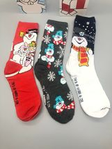 FROSTY THE SNOWMAN CHRISTMAS 3 Pack Crew Socks Size 6-12 image 6