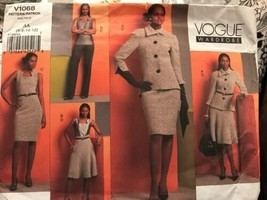 Vogue V1068 Vogue Wardrobe Patterns Suit Options Sizes 6-12 4 Styles Uncut - $21.53