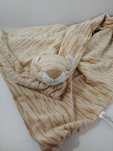 Angel Dear Big large Baby Security Blanket beige tan brown tiger striped... - $26.72