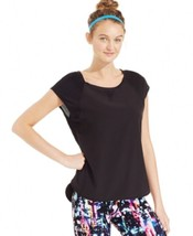 Calvin Klein, Women's, Performance Mesh Performance Top, Black, Sz. Small - $24.26