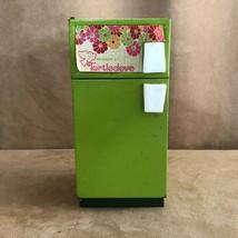 Vintage 1950's Buddy L Turtledove Barbie Size Metal Refrigerator avocado... - $24.50