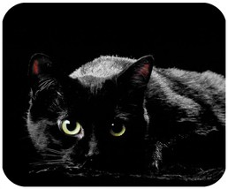 Black Cat Mouse pad New Inspirated Mouse Mats Ac8 - $6.99