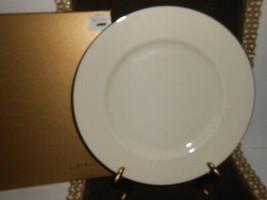 LENOX DINNER PLATE IVORY WITH PLATINUM RIM  - $4.90