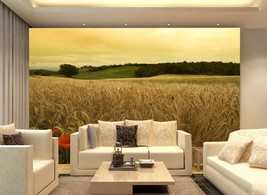 3D Die Reife Weizen saflor Fototapeten Wandbild Fototapete BildTapete Familie DE - $52.21+