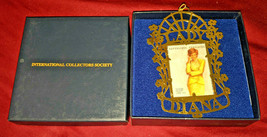 Princess Lady Diana Postal Stamp Christmas Ornament International Collec... - $15.00