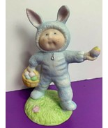 Cabbage Patch Ceramic Blue Bunny Xavier Roberts OAA Inc 1985 Our Easter ... - $8.59