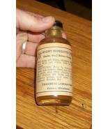OLD GLASS BOTTLE MOSQUITO INSECT REPELLENT POTEAU OKLAHOMA CHAMBERS LABO... - $321.00