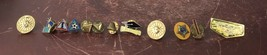 Lot Of  12 Pin Brooches Hammer/  Soccer Ball/ Chess And More... - $14.03