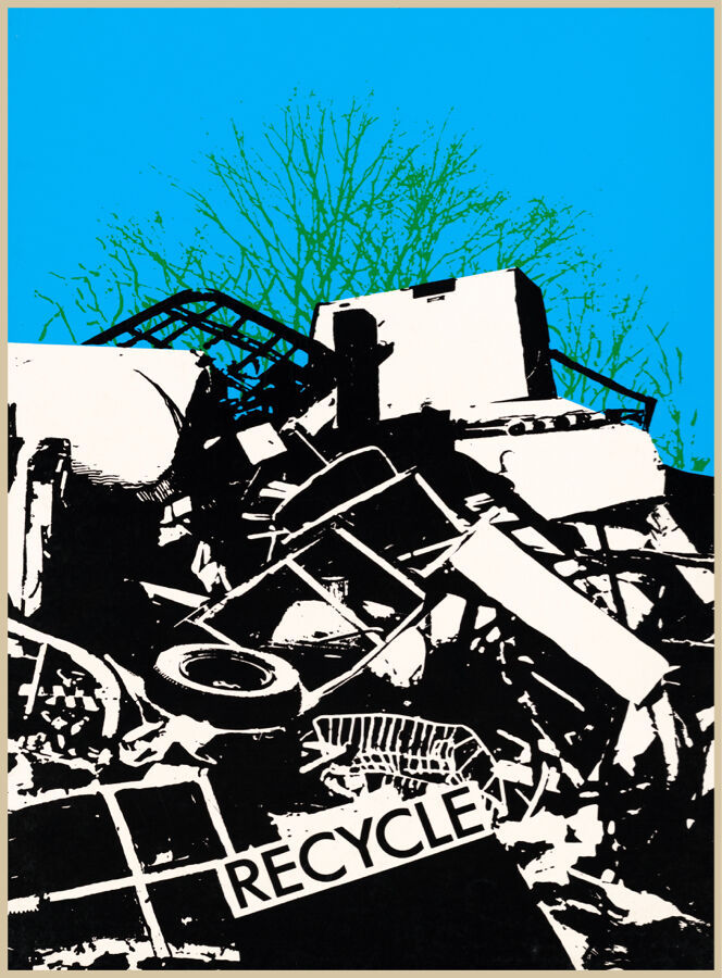 Primary image for Designer decoration Poster.Recycle.Trash.Environment.Home decor print.q422