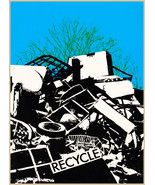 Designer decoration Poster.Recycle.Trash.Environment.Home decor print.q422 - $8.91+