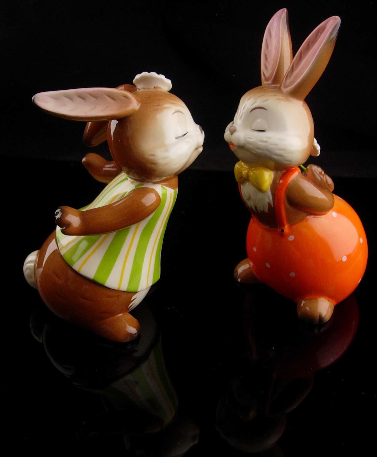 Vintage kissing bunny goebel - new mom gift - mothers day gift - german figurine