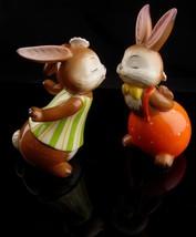 Vintage kissing bunny goebel - new mom gift - mothers day gift - german figurine image 1