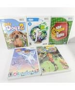 Wii game lot 5- petz dogs2 dora snow princess golf price is right doods ... - $19.80