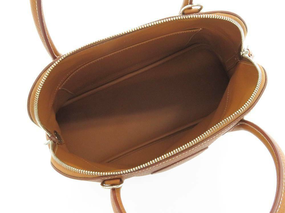 HERMES Bolide 31 Taurillon Clemence Gold 2Way Handbag Shoulder Bag #T Authentic image 10