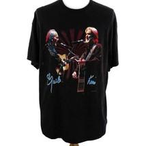 Kris & Merle Merle & Kris Country Music Stars Black Graphic T Shirt Mens... - $28.93