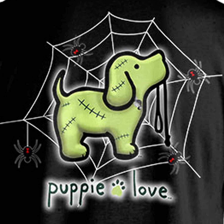 Puppie Love Rescue Dog Adult Unisex Short Sleeve Graphic TShirt,Franken Pup