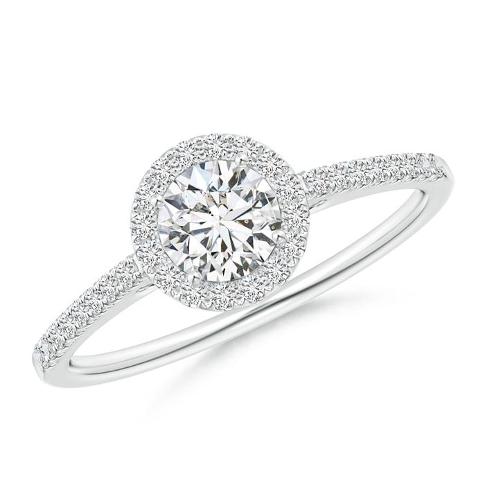 H SI2 Natural Diamond Halo Engagement Ring Silver/14k Gold/Platinum Size 3-13