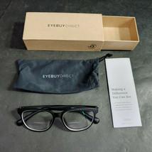 EyeBuyDirect Eyeglass Frames ONLY w/ Pouch, Moody, 53-15-143 - $12.75