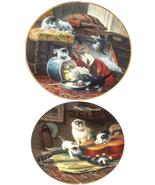 Victorian Cat Kitty Kitten Collector Plate W S George Henriette Renner - $49.95