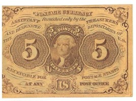 GREAT Looking 1st Issue ? 1862 5 Cent Fractional Currency bill, US  PAPE... - $56.10