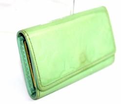 Auth Louis Vuitton Light Green Monogram Vernis Leather Multi 4 Key Case CA0084 - $98.01