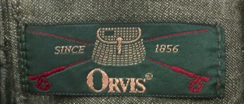 Vtg Orvis Skirt 8P Fits 2/4 Pleated Drab Green Classic Style Retro 50s 60s Mod