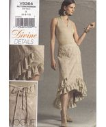 Misses Vogue Ruffled Graduated Flared Hem Party Skirt Sew Pattern 6-10 - $12.99