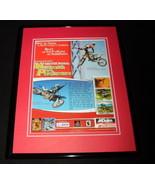 Freestyle Motocross McGrath Pastrana PS1 Framed 11x14 ORIGINAL Advertise... - $34.64