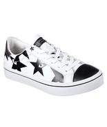 Skechers Hi-Lite STARRY EYED Stars Eyes Black White Leather Sneakers Wms... - $94.99