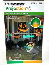 LightShow LED Projector Jack O Lantern Whirl A Motion Halloween Light Decor - $18.99