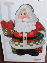 NIB 2008 Christmas Fitz and Floyd Holiday Cheer Santa Cookie Jar - $34.65