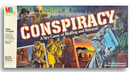 CONSPIRACY a Spy Game of Bluffing and Betrayal -Milton Bradley Family Bo... - $46.52