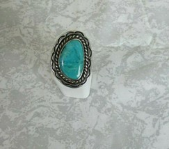 Sterling Lone Mountain or Royston turquoise ring size 7.5 - $245.03
