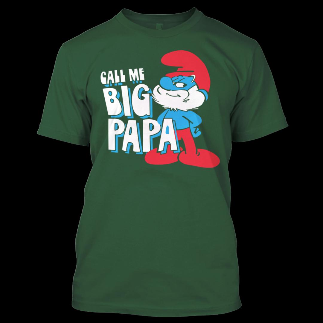 Call Me Big PaPa Smurfly Christmas The Smurfs TV series T Shirt