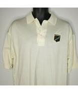 Men's Vintage Muirfield Golf Club Off White Polo Shirt L Scotland Lion C... - $25.95