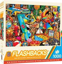 MasterPieces Flashbacks - Beach Time Flea Market 1000-Piece Jigsaw Puzzle - $10.71