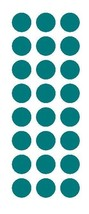 """TURQUOISE 1"""" Round Stickers Color Code Inventory Label Dot Stickers Seals - $1.49+"""