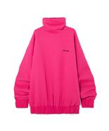 WE11DONE Oversized Stitched Logo Cotton-blend Jersey Turtleneck Sweatshirt - $265.00