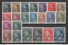 1942 Adolf Hitler Set of 22 Bohemia Moravia Stamps Catalog Number Mi 89-110 MNH
