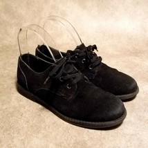 Lands End Boys 489203 Sz 4 M Black Lace Up Walking Shoes - $24.99
