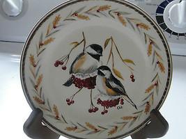 Homer Laughlin plate, hand painted, Eggshell, Georgian, chickadees, birds - $33.25
