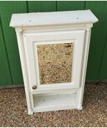 Used White Wooden Medicine Cabinet with Mirror Hanging Wall Mount - $39.99