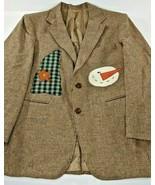 Tailored Classics Levi Strauss 100% Wool Blazer 40S Snowman Christmas Em... - $43.40